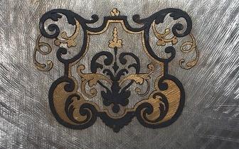 Rückseite einer Boulle-Marketerie aus Zinn, Messing und Horn, gefertigt nach originaler Vorlage.jpg